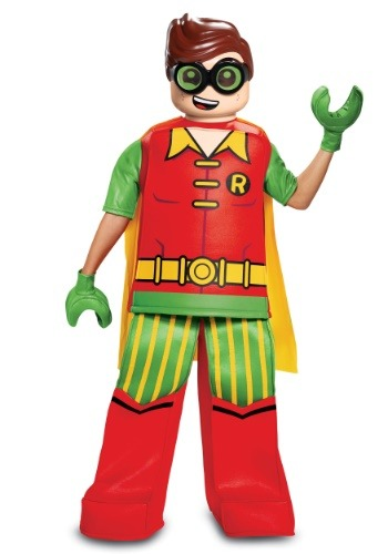 Click Here to buy Batman Prestige Kids Lego Robin Costume from HalloweenCostumes, CDN Funds