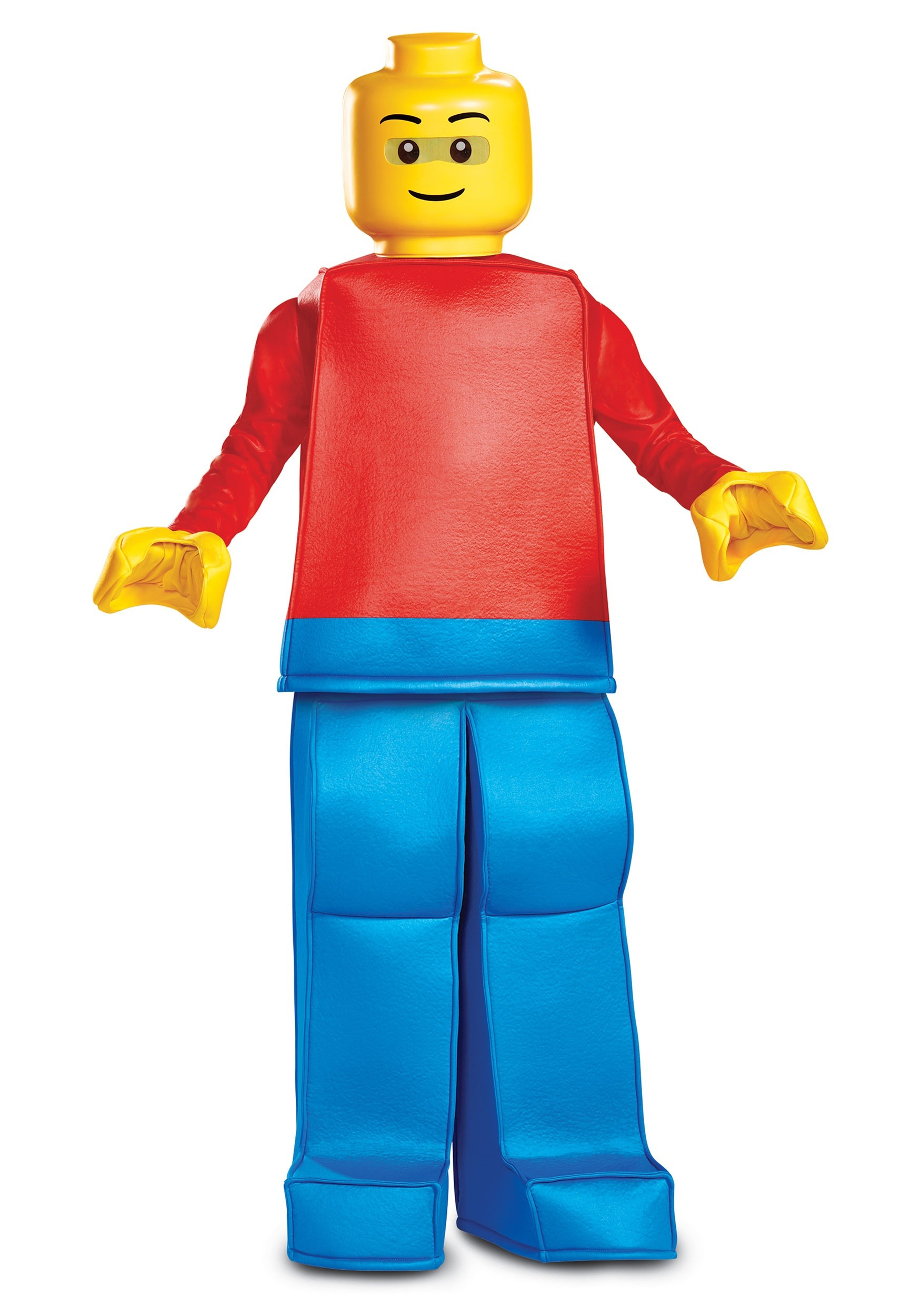 Disguise Men/'s Lego Guy Classic Costume One Size-Adult Blue