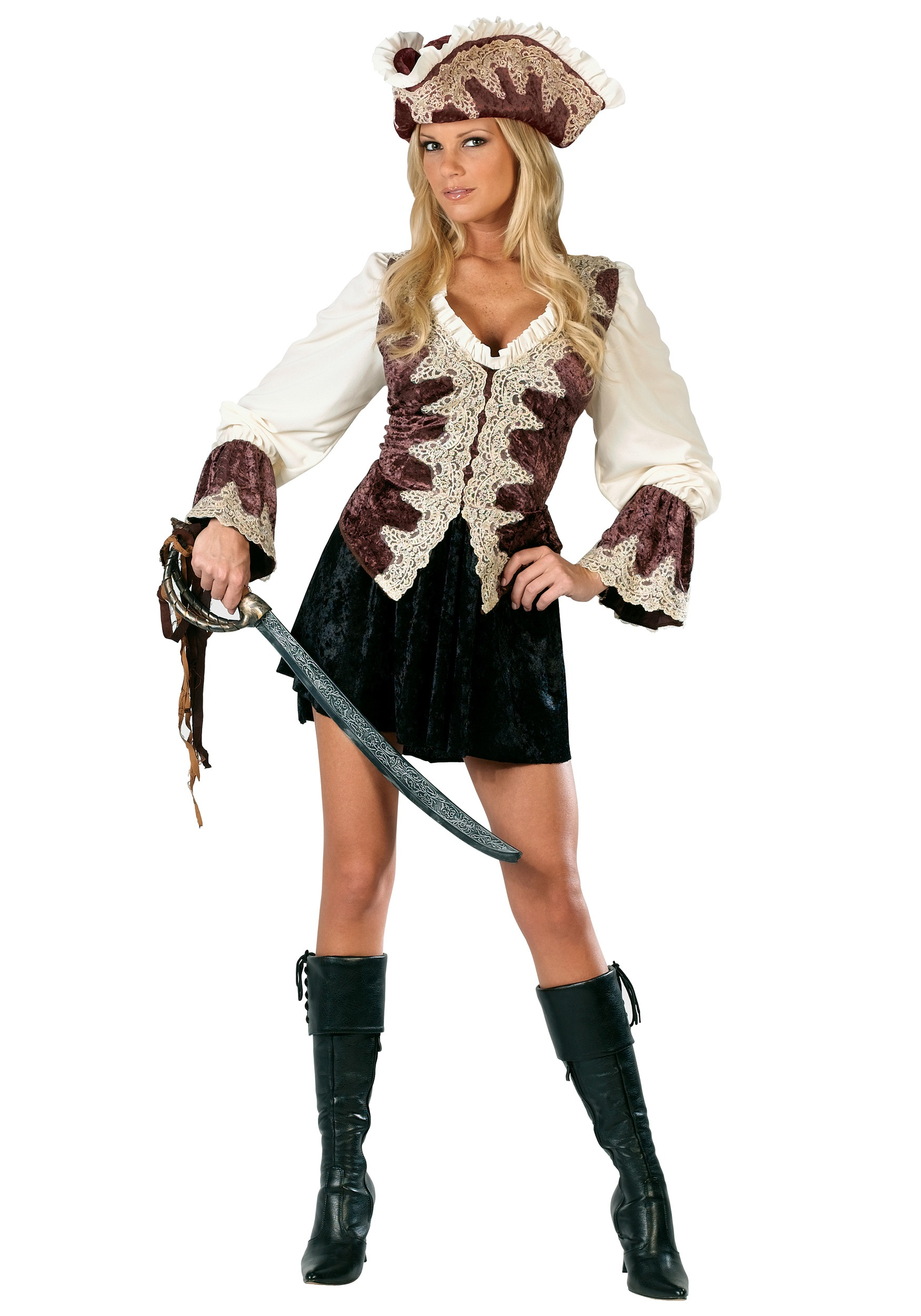 Ladies Royal Pirate Costume  sc 1 st  Halloween Costumes & Pirate Costumes for Women - Female Pirate Halloween Costume