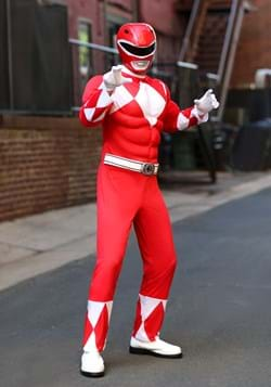 Adult Power Rangers Red Ranger Muscle Costume Update