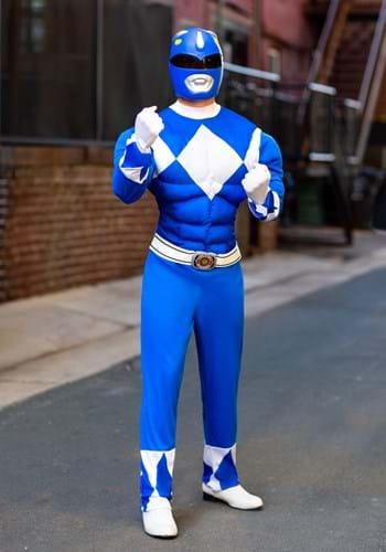 Men's Power Rangers Blue Ranger Muscle Costume Update
