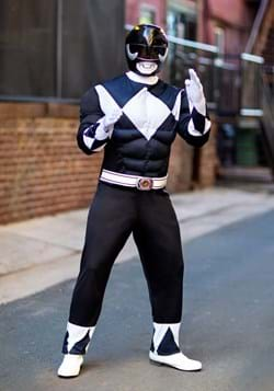 Power Rangers Men's Black Ranger Muscle Costume Update