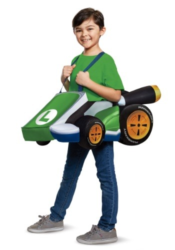 Click Here to buy Super Mario Kart: Kids Luigi Ride In Costume from HalloweenCostumes, CDN Funds