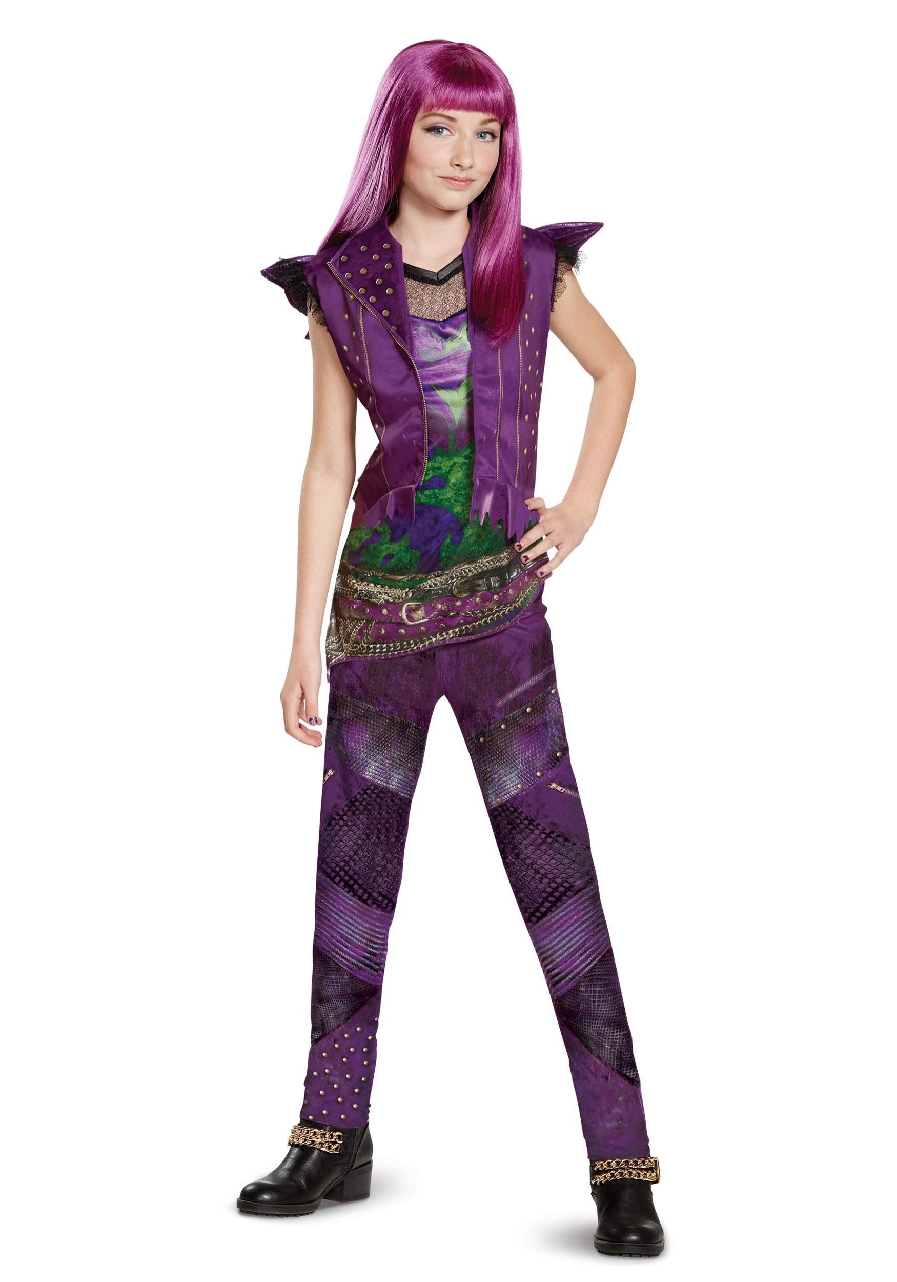 descendants 2 classic mal costume for girls