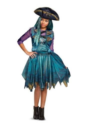 Click Here to buy Descendants 2 Classic Uma Girls Costume from HalloweenCostumes, USA Funds & Shipping