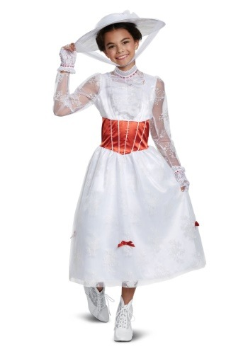 Click Here to buy Deluxe Girls Mary Poppins Costume from HalloweenCostumes, CDN Funds