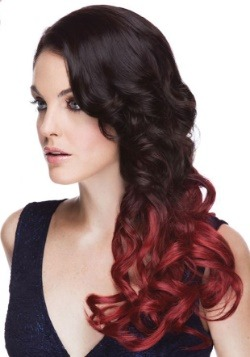"Crimson Sangria 22"" Heat Stylable Clip In Hair Extensions"