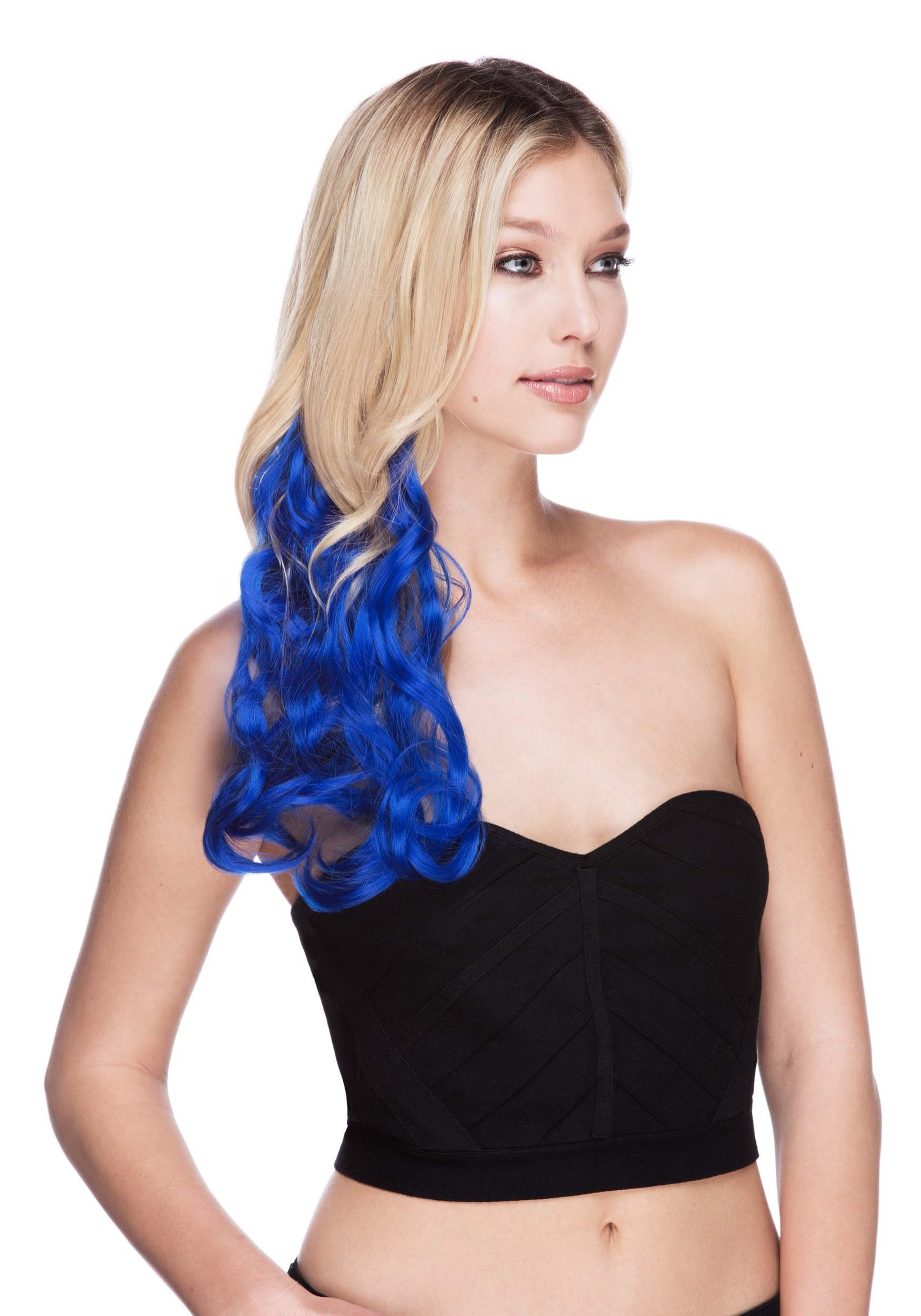 Regal Blue 22 Heat Stylable Clip In Hair Extension