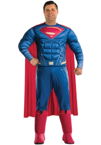 Click Here to buy Plus Size Superman Adult Costume from HalloweenCostumes, CDN Funds