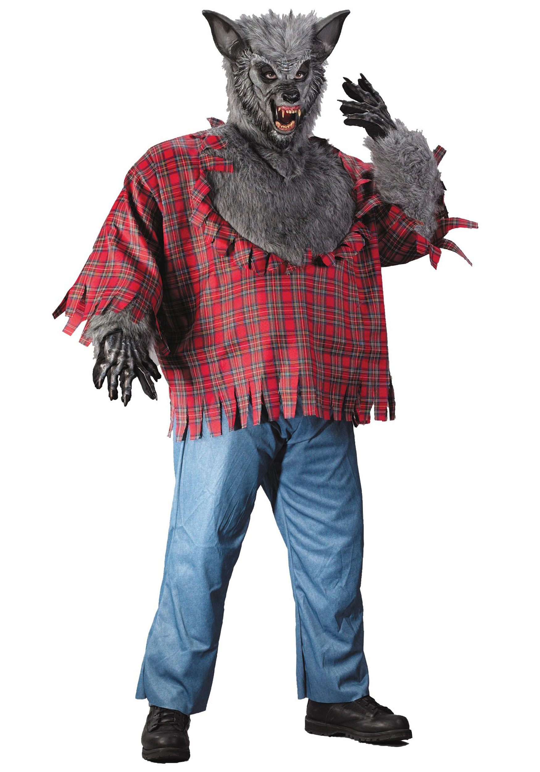 Gray plus size werewolf costume 1x gray plus size werewolf costume solutioingenieria Choice Image