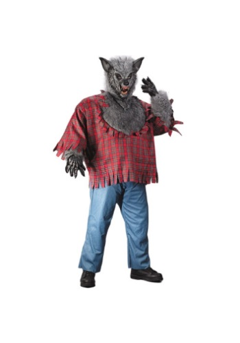 Click Here to buy Gray Plus Size Werewolf Costume 1X from HalloweenCostumes, CDN Funds