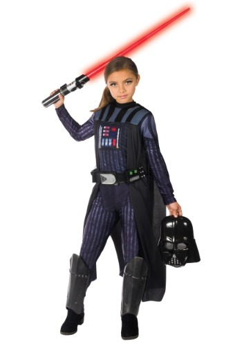 Click Here to buy Girls Darth Vader Costume from HalloweenCostumes, CDN Funds