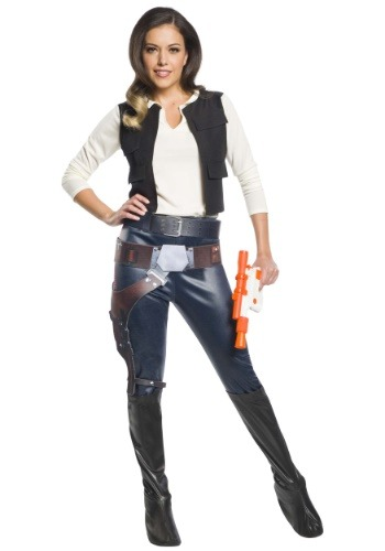 Click Here to buy Womens Han Solo Costume Star Wars Character from HalloweenCostumes, CDN Funds