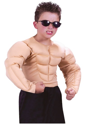 Child Muscle Chest Shirt By: Fun World for the 2015 Costume season.