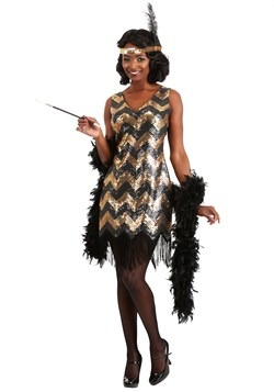 Womens Dolled Up Flapper Costume