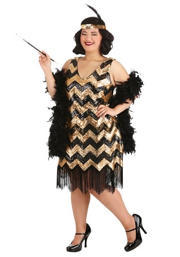 Plus Size Women's Dolled Up Flapper Costume