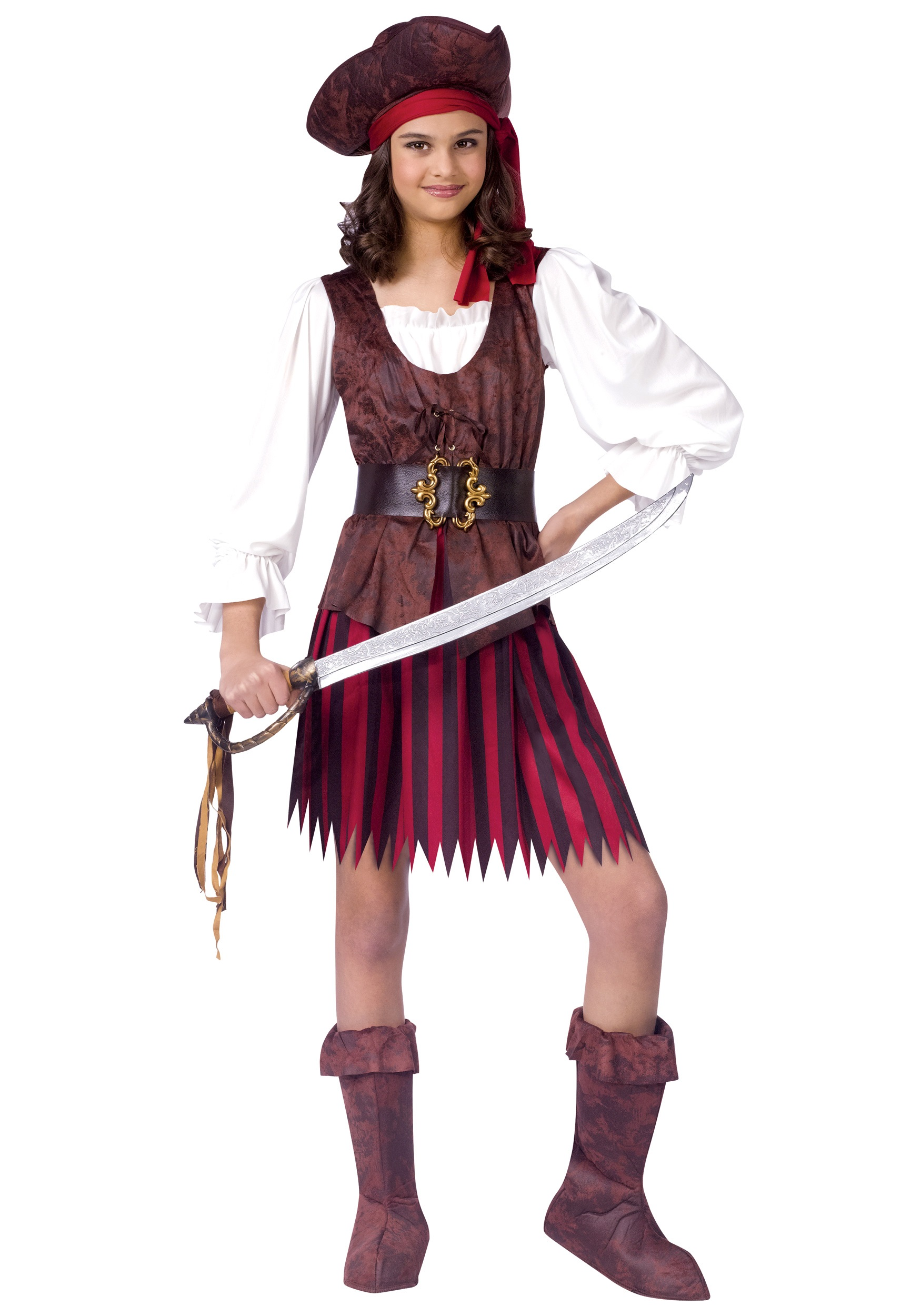 High Seas Pirate Girl Costume  sc 1 st  Halloween Costumes : costume of pirates  - Germanpascual.Com