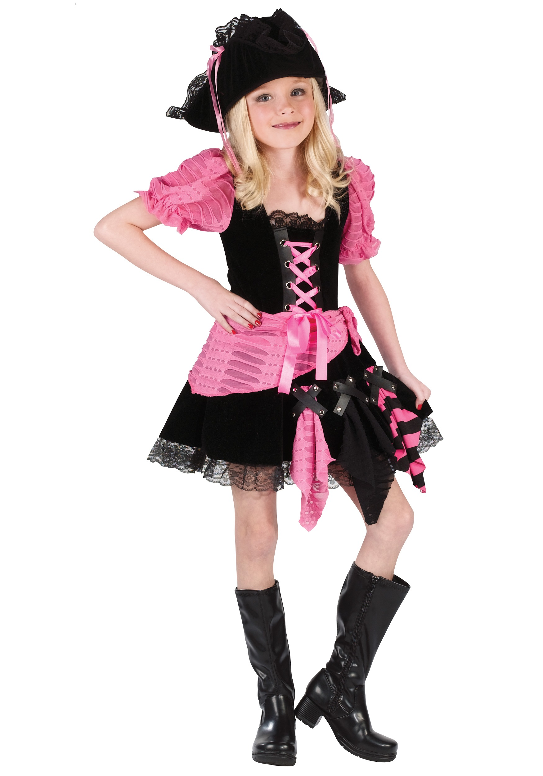 Kid 39 s pink pirate costume child pirate costumes girl for Children s halloween costume ideas