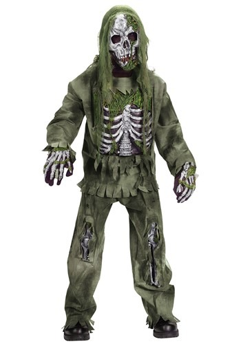 Click Here to buy Kids Skeleton Zombie Costume from HalloweenCostumes, USA Funds & Shipping