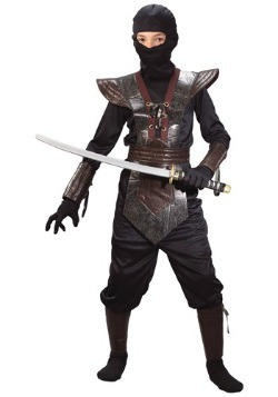Kids Leather Ninja Costume