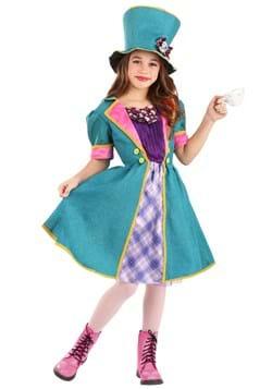 Mischievous Mad Hatter Costume for Girl's