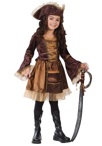 Click Here to buy Kids Sassy Victorian Pirate Costume from HalloweenCostumes, USA Funds & Shipping