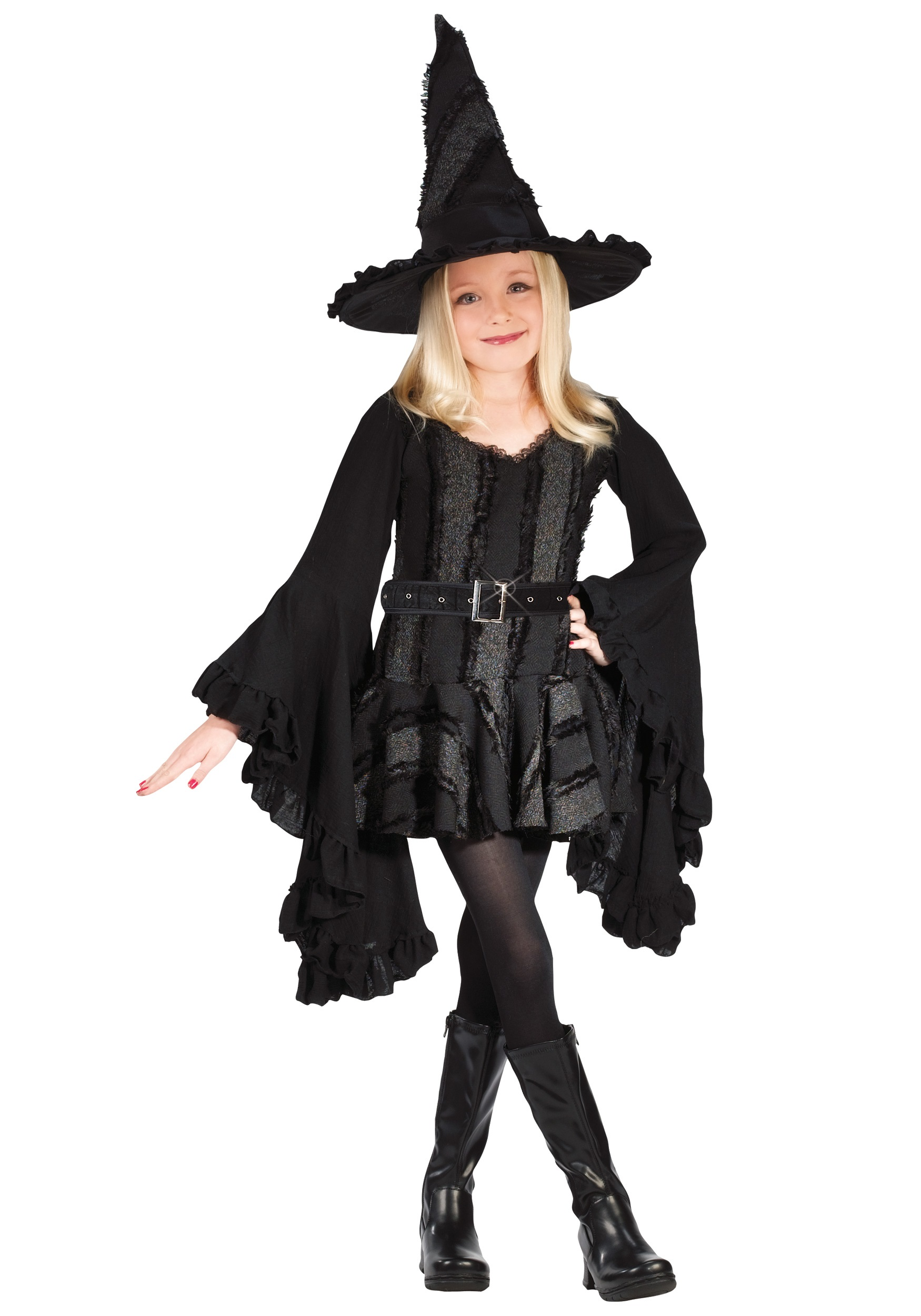 Kids Wicked Witch of the West Costume  sc 1 st  Halloween Costumes & Black Witch Costume for Girls