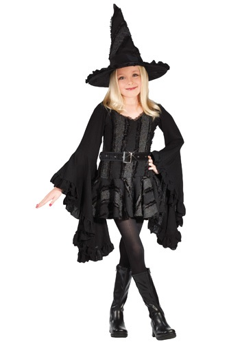 Girls Black Witch Costume By: Fun World for the 2015 Costume season.