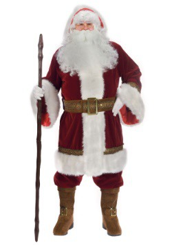 Plus Size Old Time Santa Costume