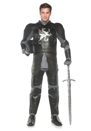 Men's Plus Size Black Knight Costume