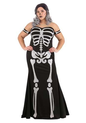 Womens Plus Size High Fashion Skeleton Costume