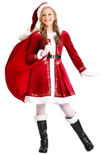 Santa Girl's Dress Costume