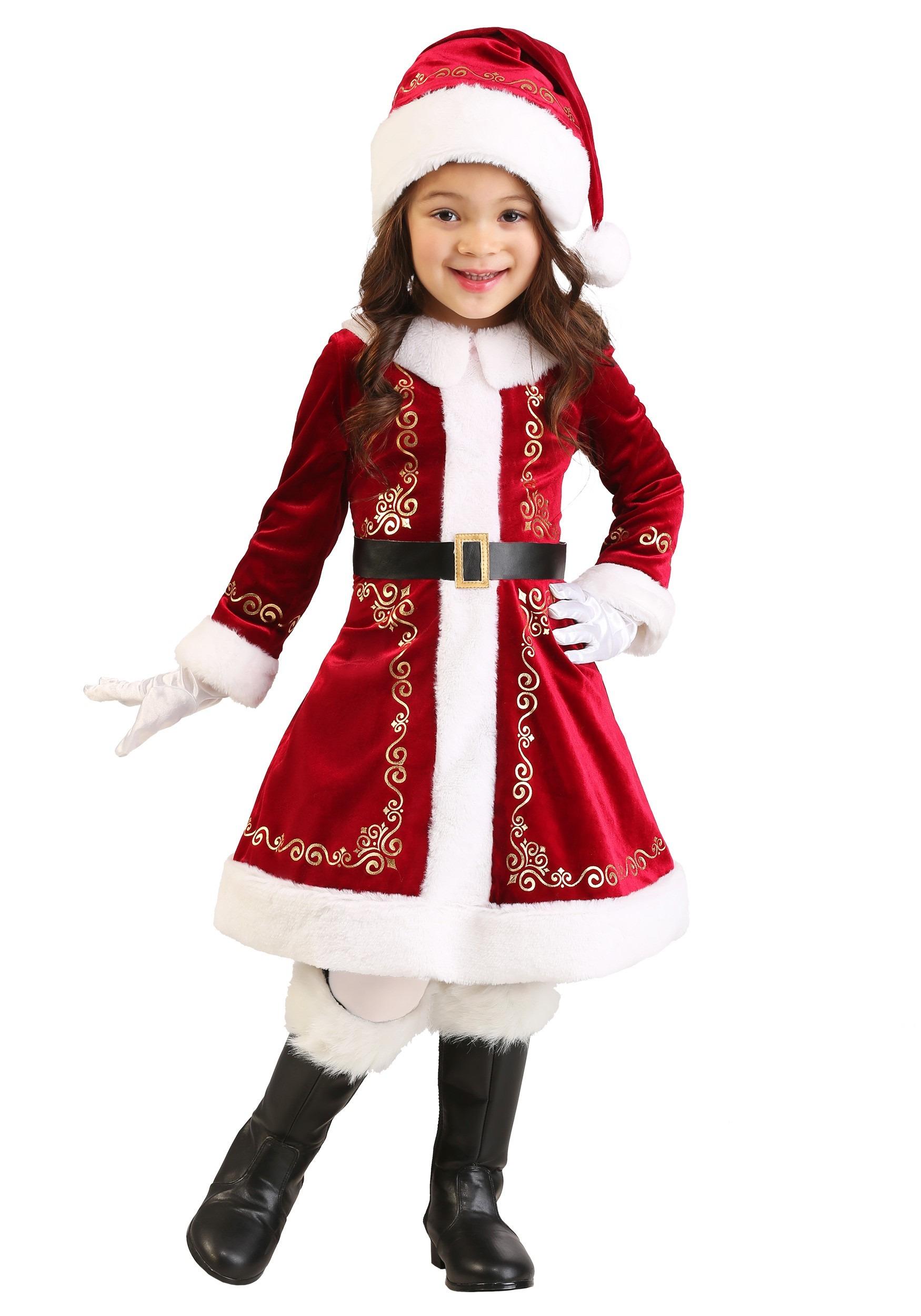 7cec26f7fce34 Toddler Girl s Santa Dress Costume