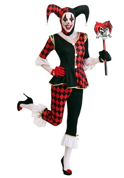 Brand New Marvelous Mime Circus Clown Jester Jumpsuit Adult Costume