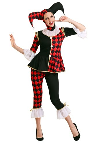 Womens Regal Harlequin Costume