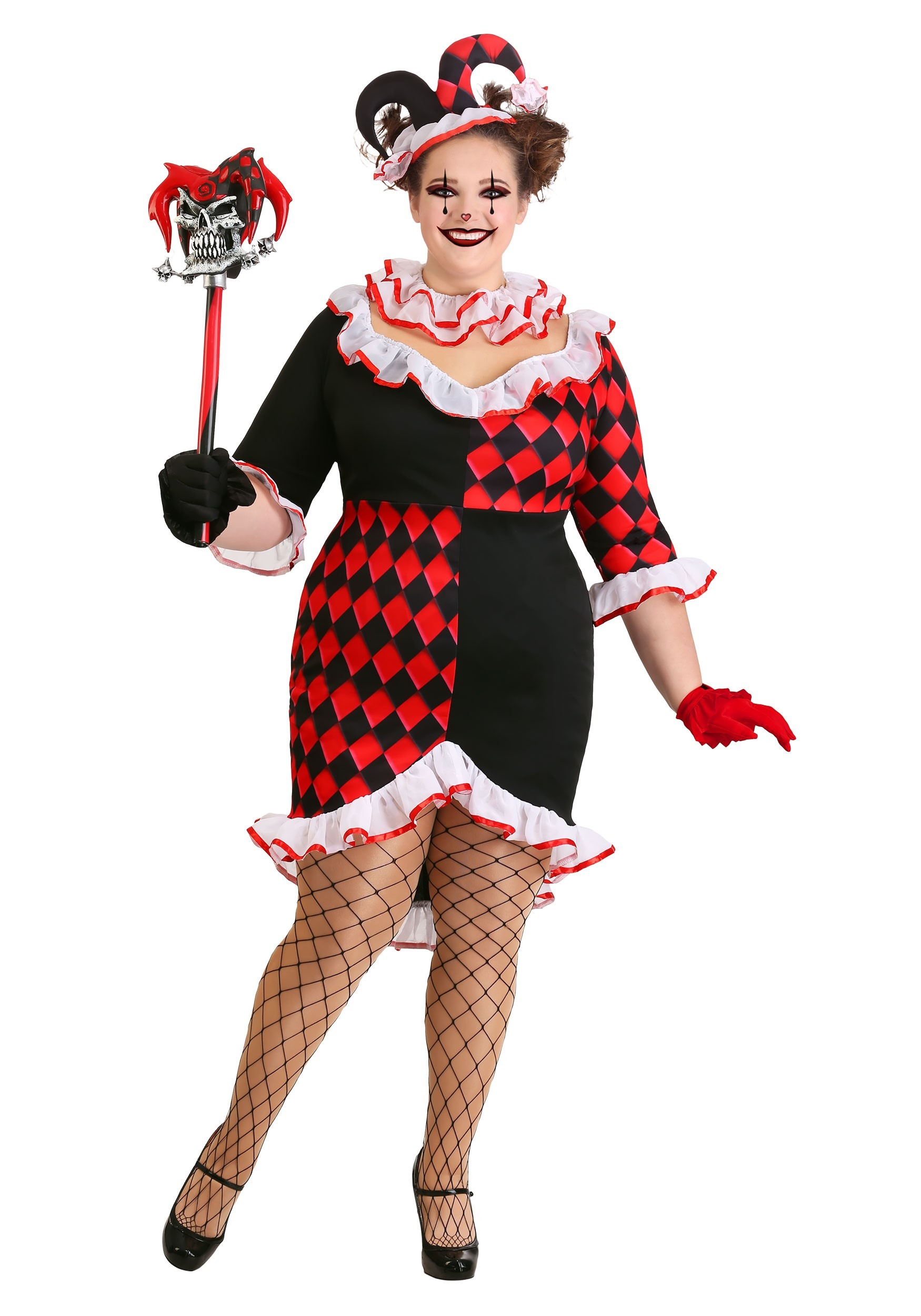 Women\'s Haute Harlequin Plus Size Costume
