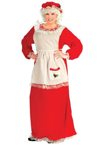 Plus Size Mrs Claus Costume - Womens Christmas Costumes
