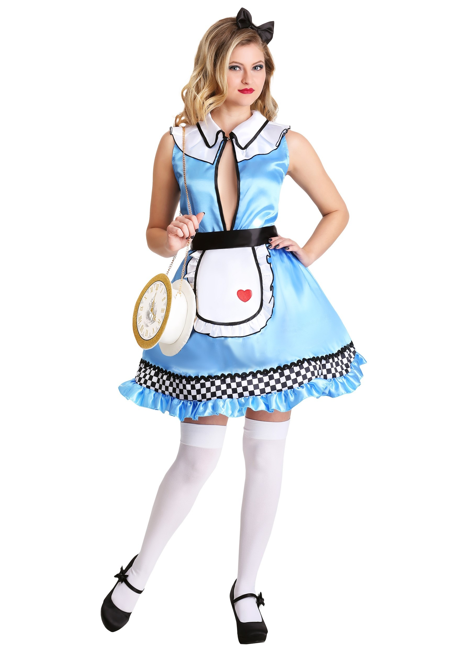 LADIES ALICE IN WONDERLAND CHARACTER APRON Design pick characters size trim