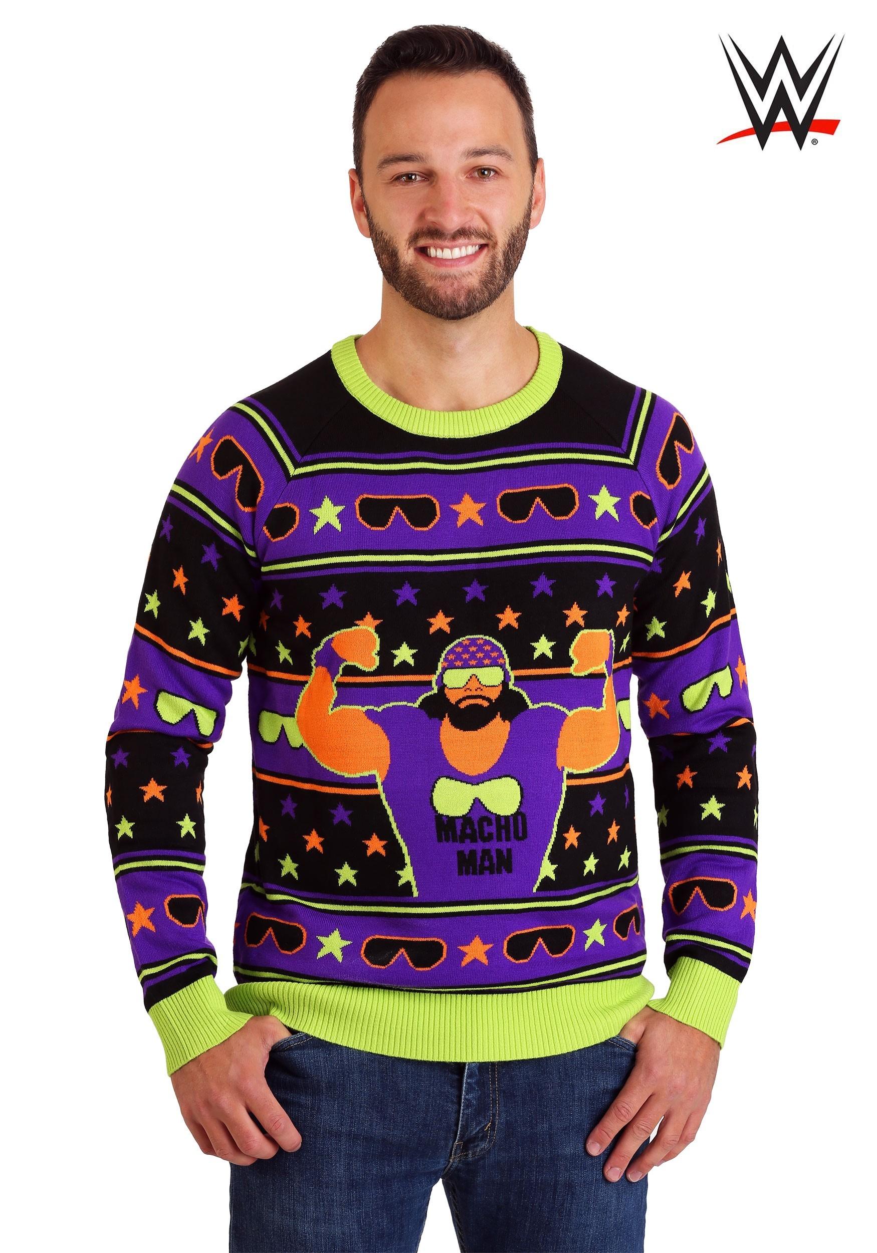 Ugliest Christmas Sweater.Wwe Macho Man Ugly Christmas Sweater
