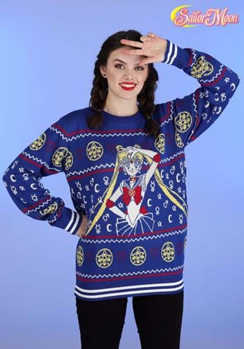 Sailor Moon Fair Isle Adult Ugly Christmas Sweater