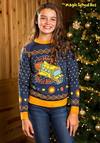 Magic School Bus Child Ugly Christmas Sweater update
