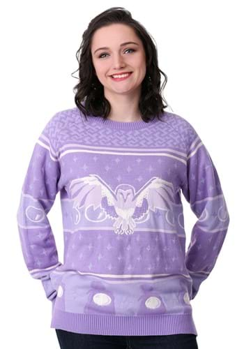 Labyrinth Owl Womens Hi-Lo Ugly Christmas Sweater