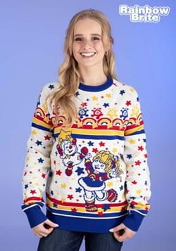 Classic Rainbow Brite Adult Ugly Christmas Sweater Update Ma