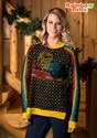 Womens Hi-Lo Rainbow Brite Ugly Christmas Sweater Update Mai