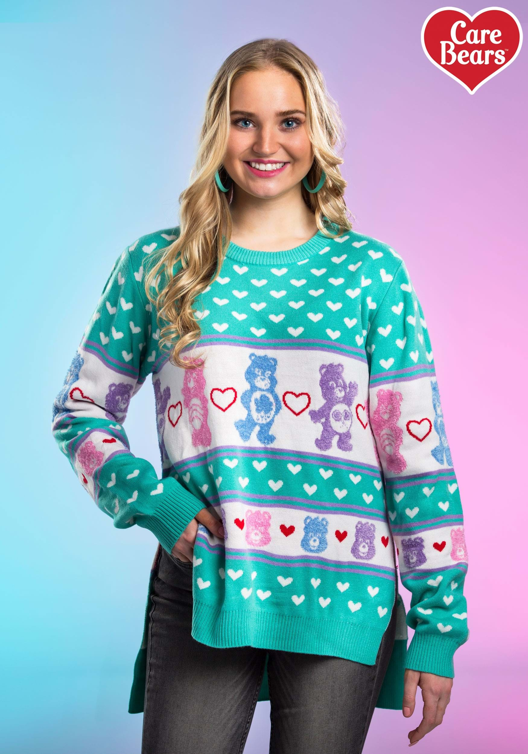 Hi Lo Care Bears Ugly Christmas Sweater For Women