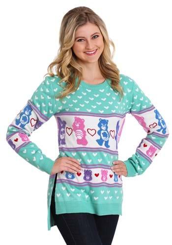 Womens Hi-Lo Care Bears Ugly Christmas Sweater