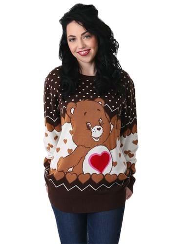 Tenderheart Bear Adult Care Bears Ugly Christmas Sweater