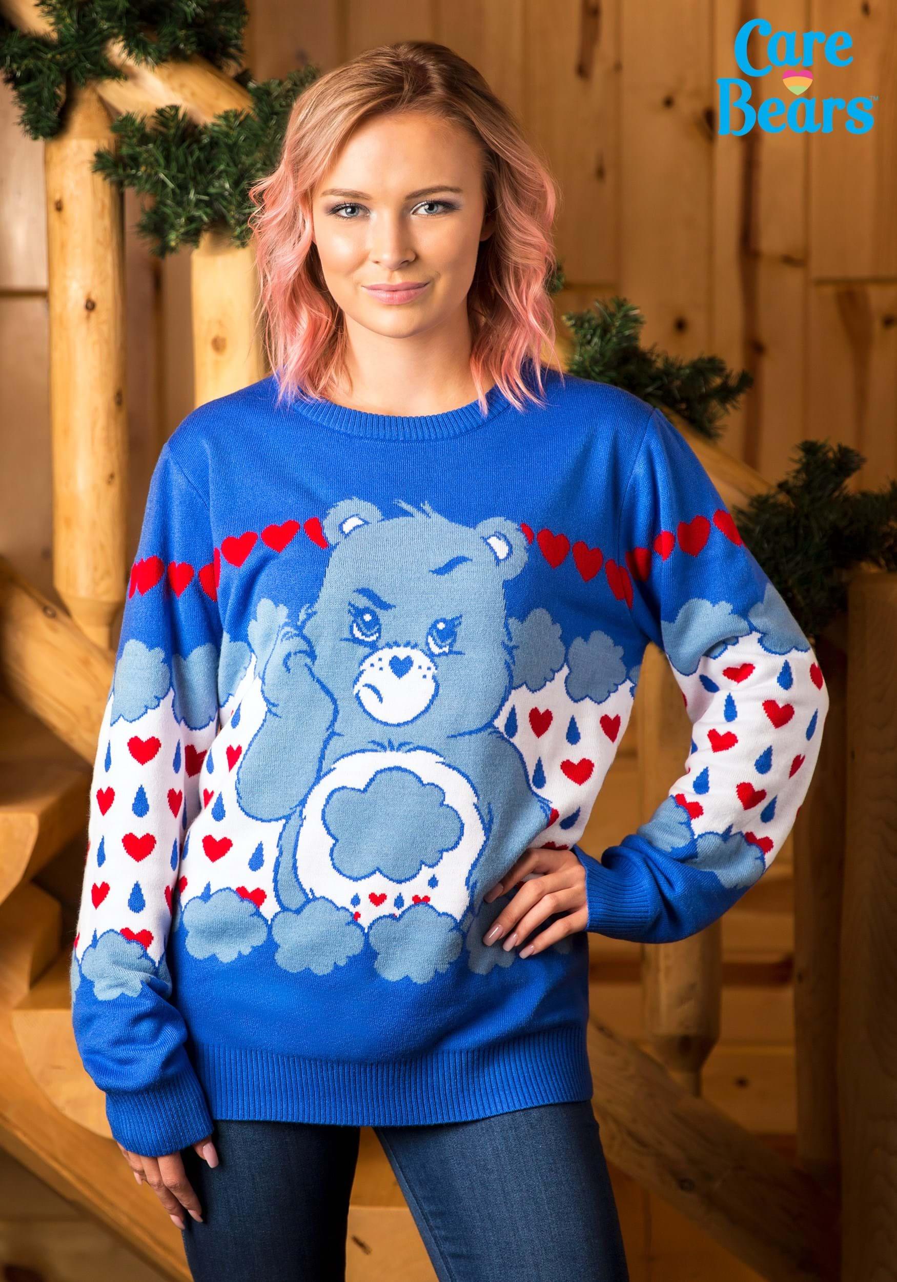 Adult Grumpy Bear Care Bears Ugly Christmas Sweater