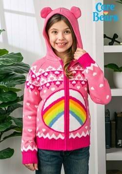 Care Bears Cheer Bear Kids Zip Up Knit Sweater-1