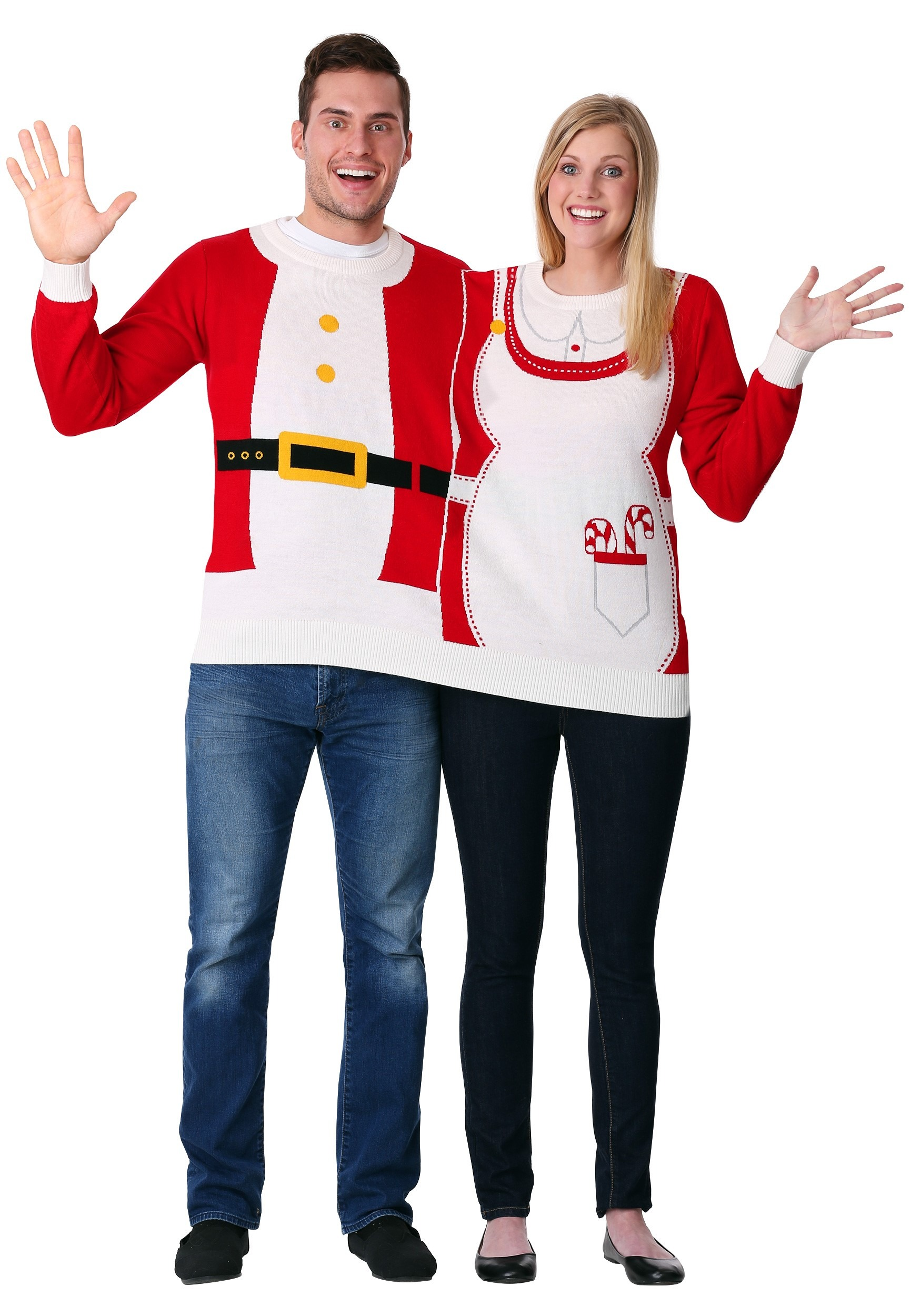 Two Person Mr Mrs Claus Ugly Christmas Sweater